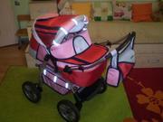 Продам очень красивую коляску для девочки. Трансформер