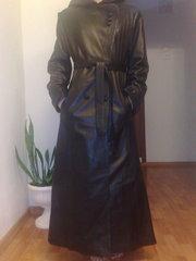 Продам новый женский кожаный плащ,  натуральная кожа 46-48