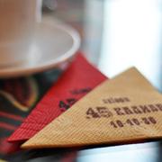 Изготовление бумажных салфеток с нанесением логотипа